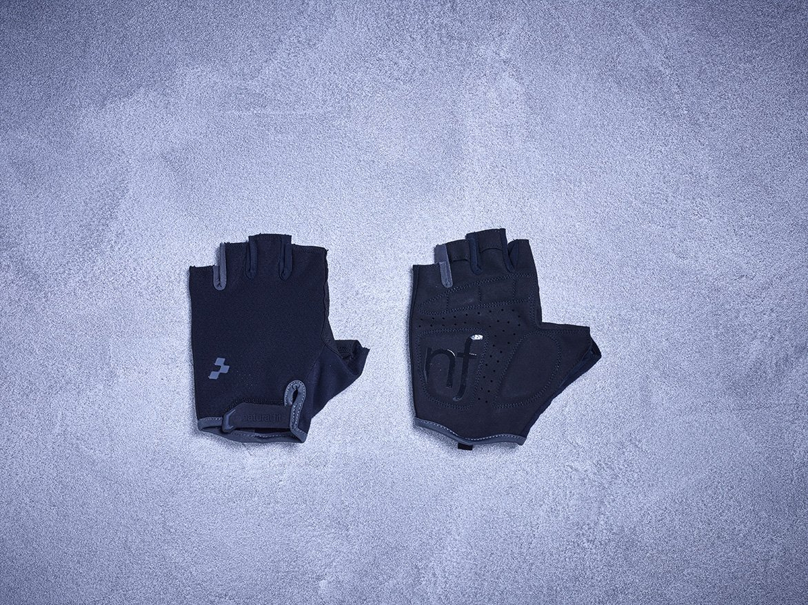 Перчатки Cube Natural Fit Gloves S/F blackline